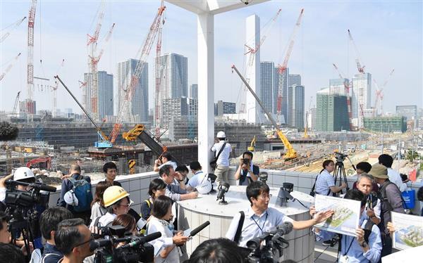 tko1807180001 p2 - 【東京五輪】東京都が競技会場と選手村を公開 工事進捗率20〜40%