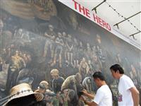 救出活動の教訓を絵画で後世に タイ洞窟からの少年救出の経緯など描く