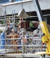 熊本城天守閣、大天守の石垣積み直し作業開始