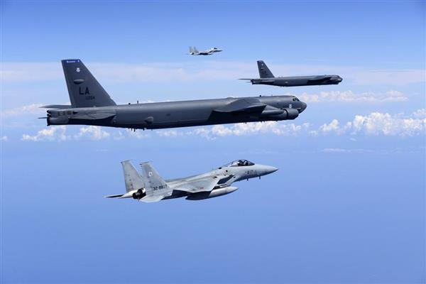 米軍の核搭載型爆撃機と共同訓練 空自、北朝鮮への警戒態勢堅持 - 産経ニュース