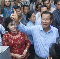 与党圧勝か、投票率焦点 カンボジア下院選開始