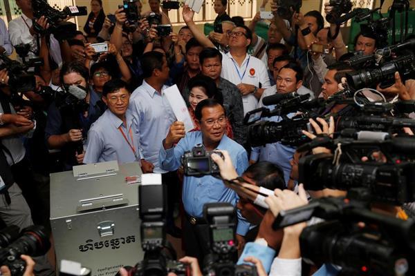 カンボジア総選挙】「不正な選挙...