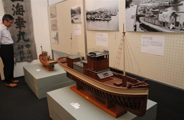 模型などで若狭湾と船の歴史を紹介するテーマ展=小浜市