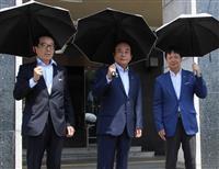 """""""日傘男子""""に埼玉知事も仲間入り 傘メーカーが県に70本贈呈"""