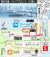 【東京五輪】「史上最も都会的コース」 トライアスロン