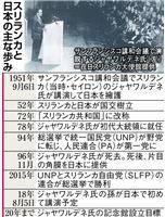 スリランカ、日本で初代大統領を称える活動 サンフランシスコ講和会議で日本を擁護 中国と…
