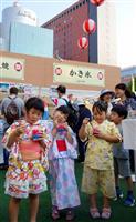 福岡・天神ど真ん中で盆踊り 「夏まつり」始まる ライブや露店も