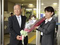 福島・浪江の新町長登庁 前町長の政策継承訴えた吉田氏
