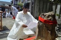 神戸・官兵衛神社のご神体「珪化木」 234年ぶり里帰りを報告