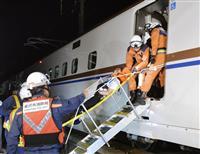 北陸新幹線で震災訓練 JR西日本、深夜の線路上