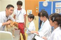 動物愛護センター淡路支所で児童が獣医体験 体調チェックの技術など学ぶ