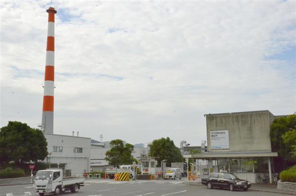 操業を再開したマツダの本社工場=7月12日午前、広島市