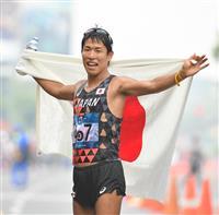 【アジア大会】男子50キロ競歩制した勝木、酷暑レース焦らず、五輪へ一歩