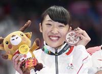 【アジア大会】森ひかる、ノーミスで「銀」 トランポリン女子