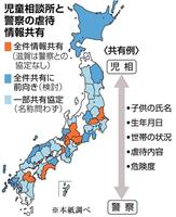 児童虐待情報、すべて共有は8府県 警察と児相、目黒事件後に加速 11道県が前向き 本紙…
