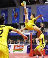 【アジア大会】セパタクロー、日本は銀 インドネシアに逆転負け