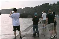 イルカ追い込み漁、悪天候で初日は中止 和歌山・太地