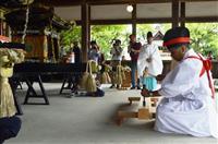 「灘のけんか祭り」準備始まる 姫路・松原八幡神社で鑿入祭