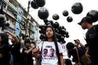 ミャンマーでロイター記者釈放求めデモ