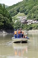 ドローンも活用、紀伊半島豪雨の不明者捜索 奈良・十津川村のダム湖