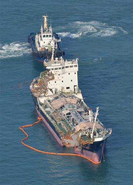 【台風21号】関空連絡橋に衝突のタンカー、タグボートで曳航 ...