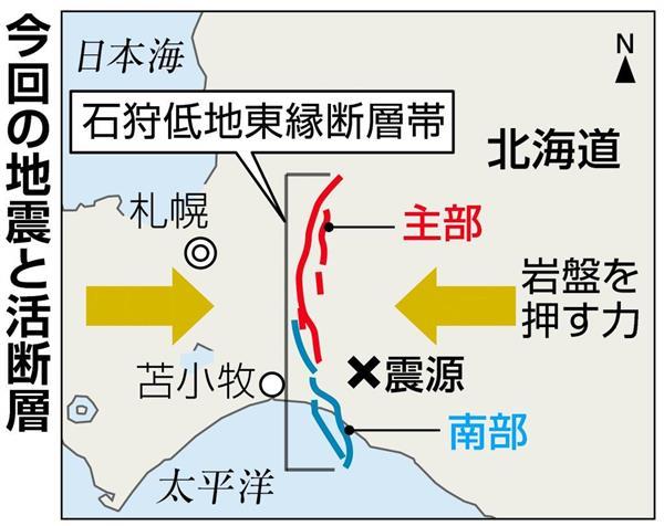 北海道震度6強地震】震源の西10...