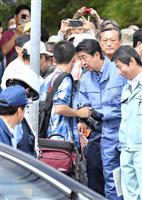 【北海道震度7地震】首相、北海道の被災地視察 液状化と土砂崩れ現場