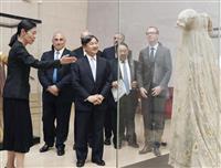 皇太子さま仏リヨンの織物博物館に なでしこ熊谷選手を激励も