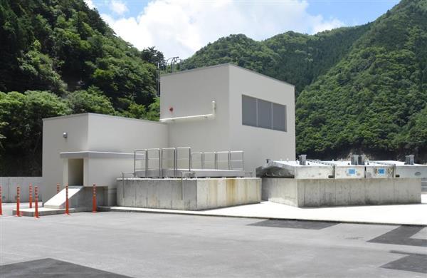 今年6月、6年9カ月ぶりに運転を再開した長殿発電所=奈良県十津川村