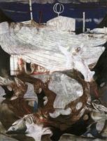 松尾敏男展(上)廃船 「これが日本画なのか」