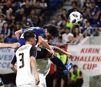 【サッカー日本代表】コスタリカ戦速報(4) 南野のヘディングはわずかに枠外