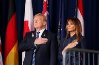 9・11追悼式典 トランプ氏、犠牲の「英雄」ら称賛 今も続く身元特定作業