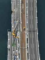 【台風21号】西日本高速、12日から関空連絡橋橋桁の撤去作業開始 月内にも鉄道の運行再…