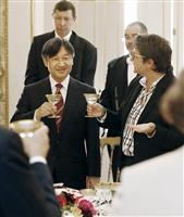 皇太子さま「日仏友好を実感」パリで昼食会 被災見舞いにご返礼