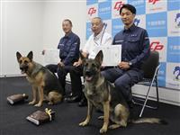 千葉県警、警察犬2頭に部長賞 不明者捜索で功績