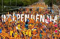 9・11バルセロナ陥落記念日 100万人カタルーニャ独立要求デモ