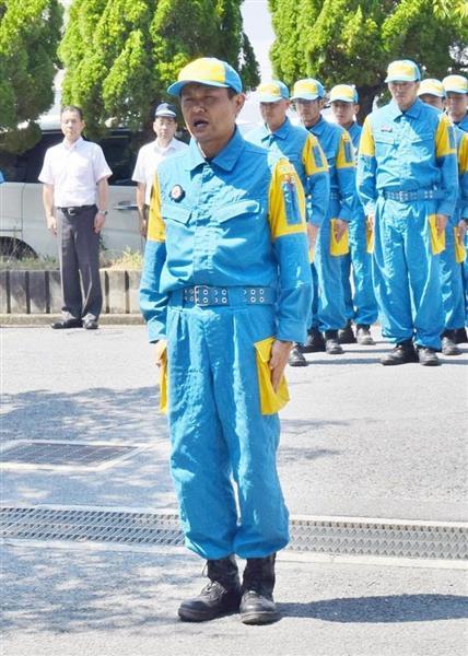 西日本豪雨の被災地で捜索活動にあたった奈良県警警備2課の山下直人警部=奈良市
