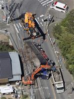 過積載で勤務先など家宅捜索 トレーラー横転3人死亡事故 千葉県警