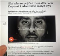 【エンタメよもやま話】米NIKE広告「国旗NOアメフット選手」起用…でも、ネット通販が…