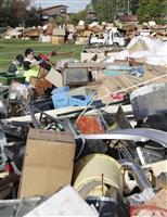 【北海道震度7地震】災害ごみが満杯に 厚真町の集積場
