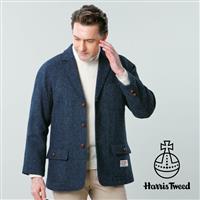 ハリスツイードのジャケット&ベストに新カラーのネイビーが入荷