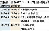 26日に日米首脳会談 安倍首相は23日から訪米