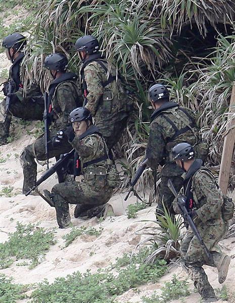 自衛隊、奄美で離島上陸訓練 陸自・西部方面普通科連隊が上陸