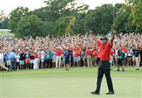 【米男子ゴルフ】42歳ウッズが通算80勝目 5季ぶり勝利