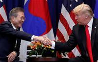 米韓、改定FTAに署名 首脳会談に合わせ