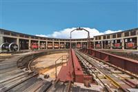 【鉄道ファン必見】蒸気機関車全盛期に設置、旧津山扇形機関車庫と転車台、鉄道記念物に〝格…