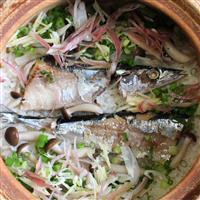 【料理と酒】秋の味覚 サンマの土鍋ごはん