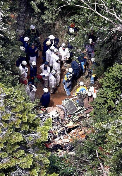 墜落した群馬の防災ヘリ「はるな」、大型ヘリで10月中旬回収へ ...