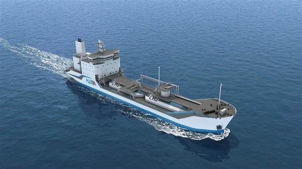 液化水素運搬船のイメージ図 資料提供:HySTRA(NEDO実証事業)