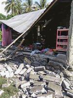 インドネシアでM7.5 津波発生、地割れも